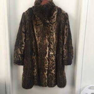 Vintage Muskrat Fur Coat / Jacket